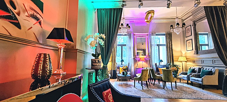 The Embassy **The Embassy at Lumiere London is a stunning function room for hire in Belgravia, London.**  Lumiere London is proud to announce the opening of its latest venue, The Embassy, on the prestigious Gro