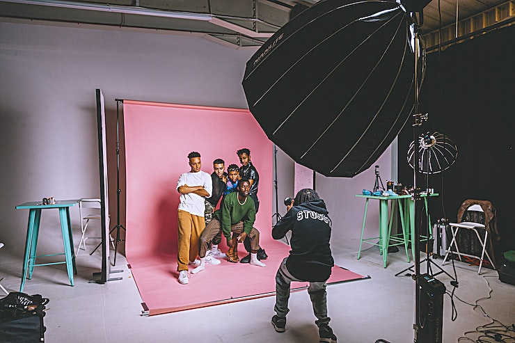 Make It Photography Studio Based in a renovated former print works in East London, the Make It Photography Studio is a unique shoot location catering to fashion and beauty editorial, product and still life, animation, stop motion and more. Complete with on-site lighting hire, infinity cove, catering facilities + make up and wardrobe areas.  - Curve Width: 6.5m - Curve Height: 3.75m - Side Return Depth: 3m - Floor Return Depth: 6m - 360 Degree Privacy Curtain - 32 Amp Three Phase power - Kitchen and Small break out room - Wifi  - Goods lift