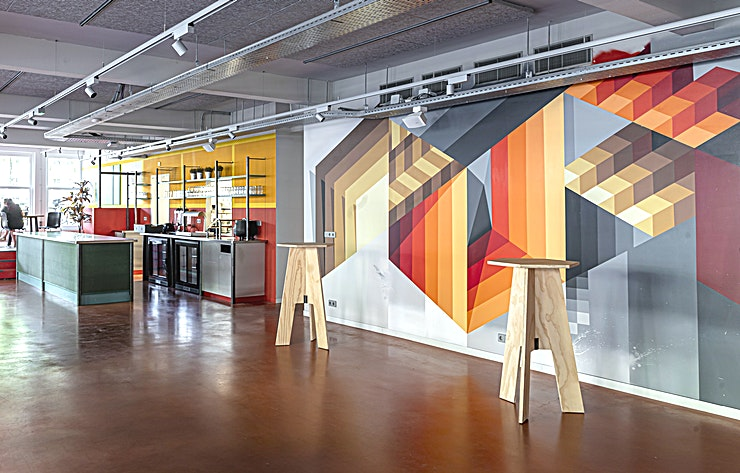 The Break Room **The Break Room at Capital C is an eye-catching creative Space for your next company offsite**