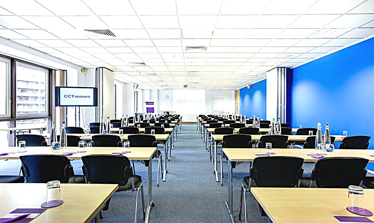 Jupiter & Saturn Recently refurbished, CCT Venues-Barbican offers a professional environment in a superbly convenient City location. The venue occupies the whole of Aldersgate House, on the corner of Aldersgate Street and Long Lane, in London EC1. The 22 training and meeting rooms are arranged over five floors and offer a range of bright, airy Spaces, with large windows and individually controlled air conditioning.  CCT Venues-Barbican has a great mix of room sizes, with capacity for groups of 4 to 150. The venue has a strong reputation for superb service and expert management of training events. In addition to great rooms, the venue also has a modern top floor Sun Restaurant, with capacity for over 140 and offering a range of freshly prepared food from our in-house chefs. All other floors have refreshment areas with tea and coffee facilities.  All rooms are well equipped with modern furniture, quality audiovisual equipment and powerful data links. Events are supported by our first class, highly experienced team who put warm, professional service central to everything.   You'll find the venue directly next to Barbican underground station and only a few minutes' walk from CCT Venues-Smithfield. City Thameslink mainline, Farringdon, St Paul's and Moorgate tube stations are also just a short walk away.   CCT Venues also have locations in Canary Wharf, offering great choice across London's busiest business districts.