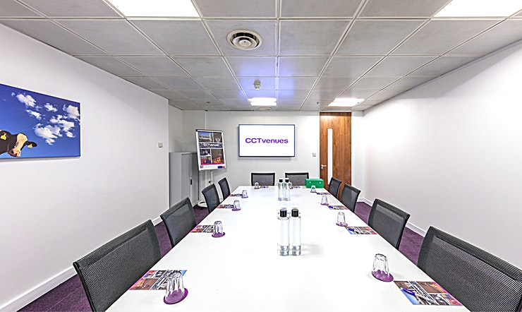 Meeting Room 1 Situated above the historic, Grade II listed Smithfield Market, less than 5 minutes' walk from Farringdon and Barbican stations. 