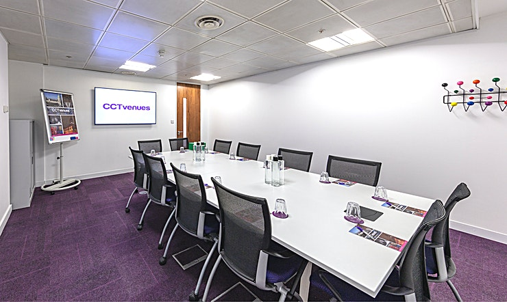 Meeting Room 2 Situated above the historic, Grade II listed Smithfield Market, less than 5 minutes' walk from Farringdon and Barbican stations. 
