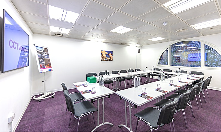 Meeting Room 3 Situated above the historic, Grade II listed Smithfield Market, less than 5 minutes' walk from Farringdon and Barbican stations. 