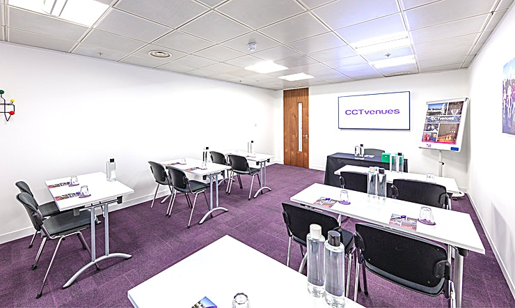 Meeting Room 4 Situated above the historic, Grade II listed Smithfield Market, less than 5 minutes' walk from Farringdon and Barbican stations. 