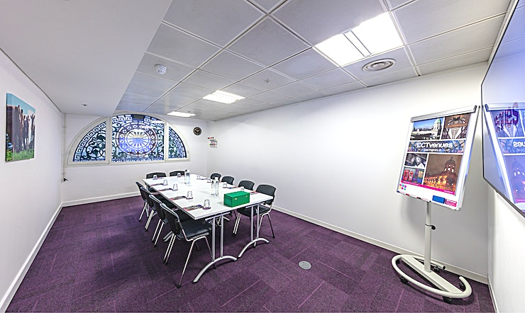 Meeting Room 5 Situated above the historic, Grade II listed Smithfield Market, less than 5 minutes' walk from Farringdon and Barbican stations. 