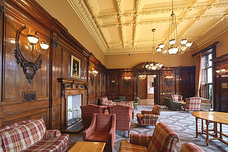 The Wyatt Lounge *The Wyatt Lounge at Ashridge House is a stunning and elegant space, perfect for private dinners or drinks receptions*  The Wyatt Lounge is the hub of Ashridge House, through the day, this serves as a lounge and public meeting area. With gorgeous views of the southern terrace gardens.  However, the lounge also serves as a stunning function room for evening receptions. The bar is directly next door and there is also access to our southern terrace.  Perfect for: Three-course dinners, Evening receptions, Weddings, Award Ceremonies .