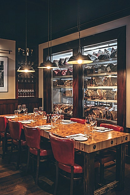 Private Dining Room **Situated at the back of the restaurant, this fully private dining room with separate entrance is perfect for those wanting a bit more privacy.**  Use the banquets and tables to create a bustling res