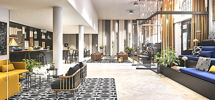Welcome Foyer  * The Welcome Foyer at the Hyatt Regency Amsterdam is a luxurious space in central Amsterdam, that is perfect for hosting your next drinks reception*  Awarded for its refreshing sustainable 'living' décor, five star Hyatt Regency Amsterdam offers spacious botanical inspired guestrooms, relaxing public spaces, a 24H Fitness Centre and Mama Makan Indonesian Restaurant, Bar & Terrace. Located in the city centre, bordering the trendy east neighbourhood, the vibrant hotel seamlessly connects business with pleasure and the city with nature.  Featuring elegant & homely in décor, this is a fully customizable space for hosting events in style for up to 150 guests. Key features include a private entrance, tiered bleachers, stylish moveable furniture and a live cooking counter.
