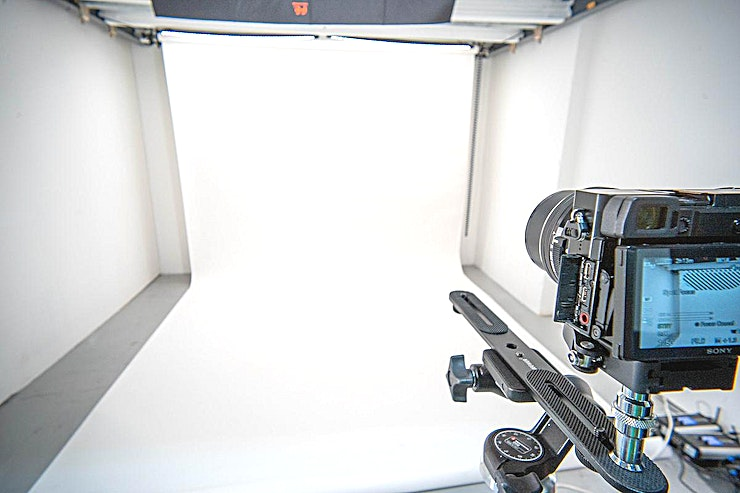 Anytime Studio 24/7 access fully equipped video recording studio.  Book online for 1/2 or full day. Can be rented empty or with equipment (camera, lights, green screen, autocue)