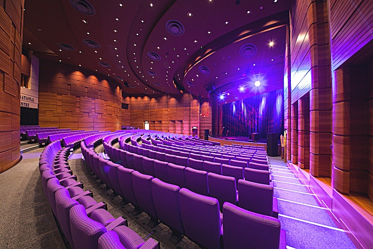 Pentland Suite **The spectacular Pentland Suite is a flexible raked auditorium which seats up to 1,200 people. The Suite can sub-divide into three separate auditoria, of 600, 300 and 300 seats in under 4 minutes.**  Situated at the heart of Scotland's beautiful capital city, the EICC is one of the world's outstanding venues for conferences and events.  Our purpose-built centre offers the very best facilities and technology; and our experienced team will help to ensure your event's success.