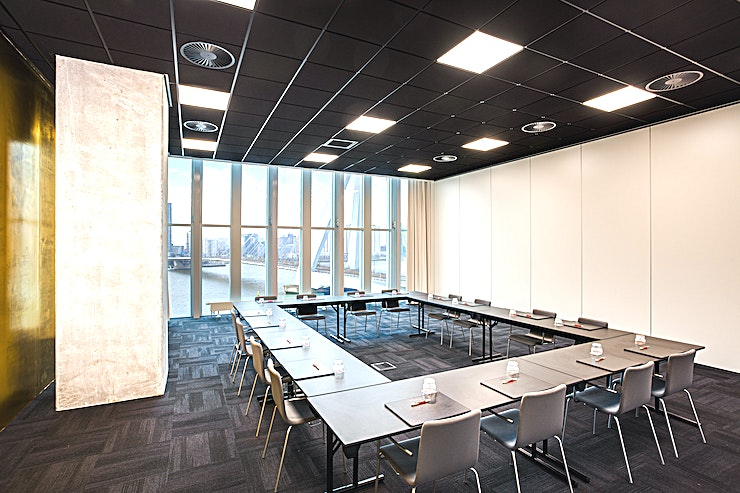 Meeting Room 7 This meeting room is one of the meeting spaces which nhow Rotterdam offers. Meeting Room 7 is very suitable for your meeting, brainstorm session, presentation, a training, network event but also for l