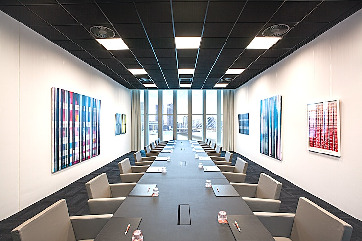 Meeting Room 8 This meeting room is one of the meeting spaces which nhow Rotterdam offers. Meeting Room 8 is very suitable for your meeting, brainstorm session, presentation, a training, network event but also for l
