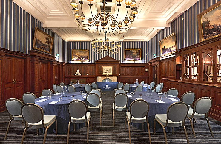Regent Room The Regent Room is the hotel's original library which exudes a traditional charm. The beautiful wood panelling and fireplace makes it the perfect room for private dining and special occasions as well as offering the flexibility and facilities to accommodate board meetings, presentations and small conferences.