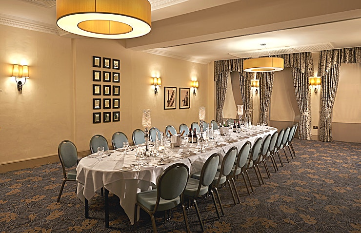 Consort Room The Consort Room is tucked away on the ground floor of the hotel. Like all of our other meeting spaces, it was recently refurbished in a contemporary-meets-classic style. This room is suitable for sma
