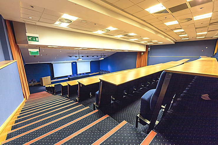 Auditorium **This 240 seater tiered Auditorium is the ideal location for conferences, plenaries, product launches and more.**    With built-in AV and an AV Technician included as standard, this Space provides everything you need for your next event at Scotland's National Stadium.