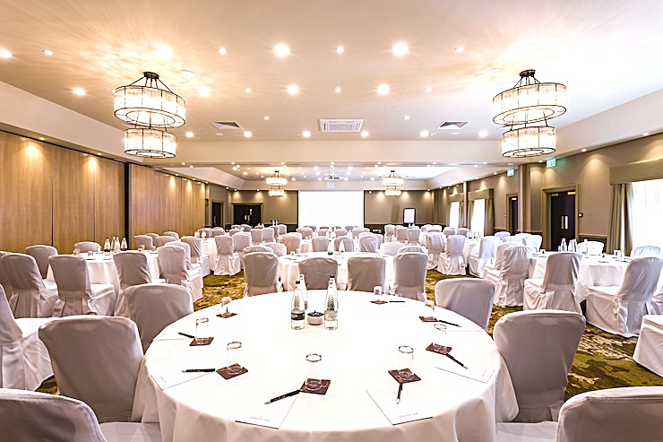 Prince Bishop Suite  **The Prince Bishop Suite is the largest of our banqueting and meeting suites and can hold up to 300 people theatre style or 200 people for a banquet dinner with space for a dance floor and disco. Also benefits from a large reception foyer suitable for a break-out refreshment area or private bar facility. **