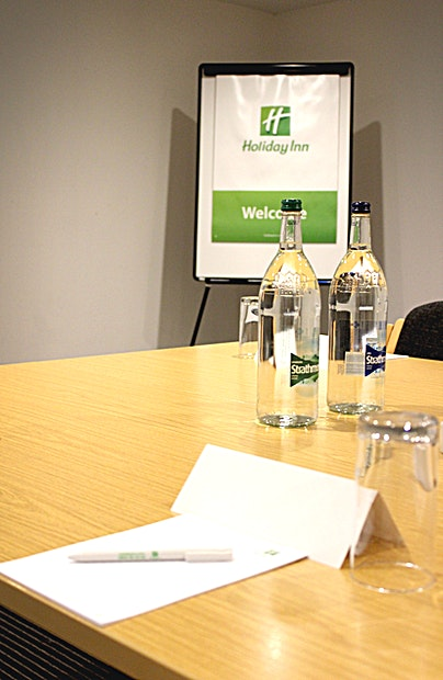 Middleton Suite **Ground Floor, small meeting room, ideal for interviewing up to 3 delegates.**  As well as its excellent location with great accessibility for your Guests and delegates, the Holiday Inn Scotch Corner provides light, spacious meeting and events Spaces with full audiovisual connectivity, plenty of onsite parking and a dedicated events team on hand at all times.  Holiday Inn Darlington offers a choice of 8 meeting and function rooms with capacities ranging from 6 to 350 delegates that can be hired on a half or full-day basis depending on your requirements. Each room features all of the audiovisual connectivity you need as well as free Wi-Fi connection and Bluetooth connectivity.