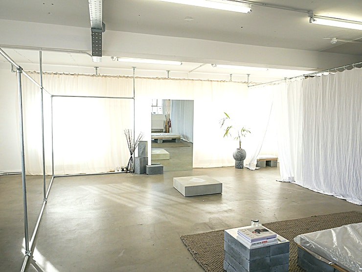 The Fall Warehouse Studio Large industrial daylight studio with three sides (east, south, west) of windows to maximise shooting time. Clean white walls and beautiful concrete floors.