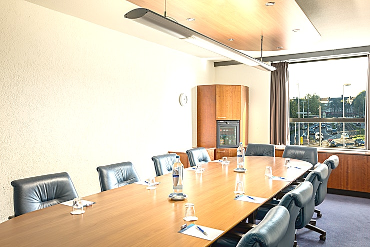 Boardrooms (23x) NH Utrecht has 23 modern and well-equipped boardrooms at her disposal. You can host up to 12 people.  The surface of those spaces are 25m2 and the ceiling height is 2.60 meters. The room is equipped with air conditioning, free Wi-Fi, a carpeted floor, a projector and a presentation case. Furthermore, you can make use of our high speed internet for a small compensation. In addition, there is lots of natural daylight.  About NH Utrecht: the hotel is easy accessible by public transport and by car. The hotel has a restaurant, bar, fitness area and an outdoor terrace at her disposal. Throughout the hotel you can make use of our free Wi-Fi. The reception is open 24/7.  Feel Safe at NH: NH Hotel Group launched Feel Safe at NH in collaboration with the SGS. As part of this, 10 protocols have been established for the safety of guests, participants and employees. With this, we guarantee that you can organize your meeting or event in all health and safety. Our F&B services are also adapted to the current situation.  The loaded meeting room capacity is the standard one. In case that any COVID restriction or regulation applies to your request, the selected hotel will apply the corresponding restrictions during the quotation process. Based on destination, size and date of the event.