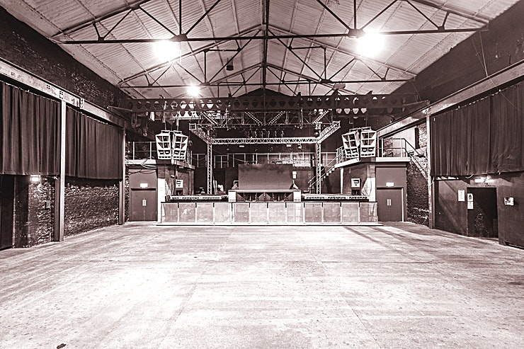 Motion  **Motion is located in a listed Victorian warehouse in the centre of Bristol, on the bank of the River Avon in close proximity to Temple-meads Station.**   The existing building was formerly a gasworks and Marble Factory before it became a popular skatepark location. Motion began hosting parties in 2006 when the skate ramps formed part of the dancefloor until 2015 when the complex eventually turned into a full-time nightclub and music venue. Motion now hosts a multitude of events including gigs, festivals, sporting events, corporate hires and private events, as well as the club nights that the venue is famed for.
