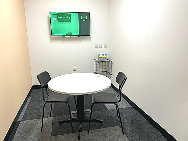 SPS1 Looking for a quiet Space to hold that important meeting? Our compact meeting rooms offer you all the benefits of privacy, with audio visual equipment as standard, and individual climate control so you can focus on the meeting at hand. Sometimes we just need a quite space to have those important talks and we are here to accommodate that. Let the AHQ staff make sure you have everything you need to put you at ease, leaving you to concentrate on the task at hand.