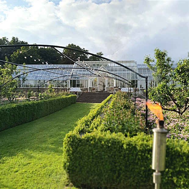 The Walled Garden at Teasses Estate The gardens at Teasses revolve around our historic Greenhouse, situated in the Walled Garden. The traditional Victorian Greenhouse can host a variety of functions, dining experiences, drink receptions