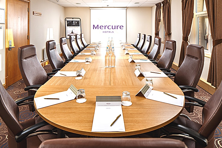The Boardroom Holds up to 15 delegates in Boardroom layout 8m x 4.3m