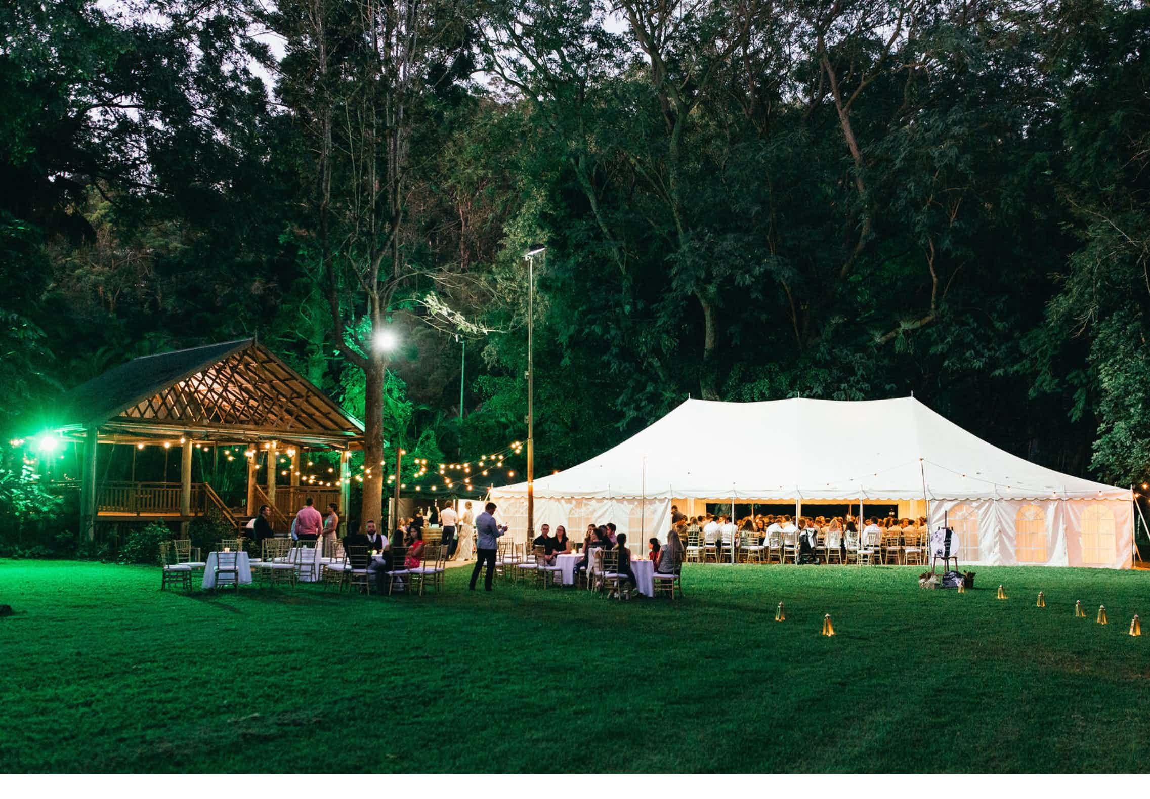 Marquee, Bundaleer Rainforest Gardens