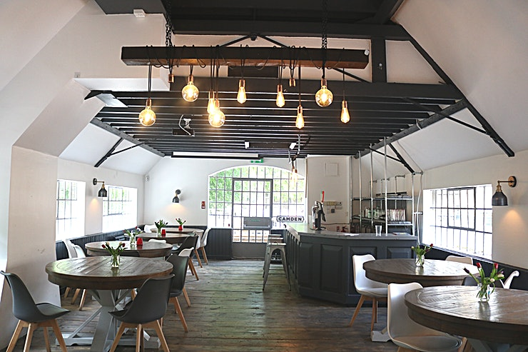 The Function Room A spacious upstairs area with a balcony overlooking the River Wandle, it is a perfect Space to hold up to 80 Guests for any event.   We also have a lovely outside balcony for extra standing and seatin