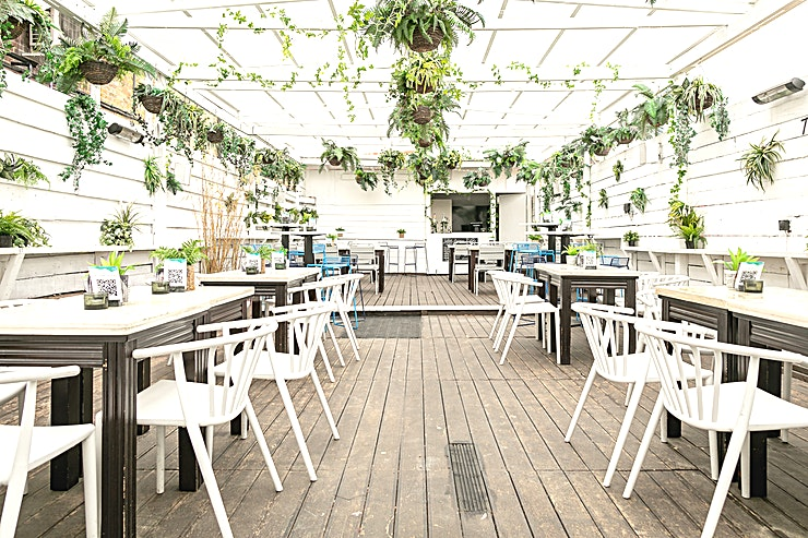 The Garden Our large beautiful garden is the perfect place for an outdoor party.   A private bar stocked with your choice of drinks and dedicated servers.  When the British weather lets us down their is heating