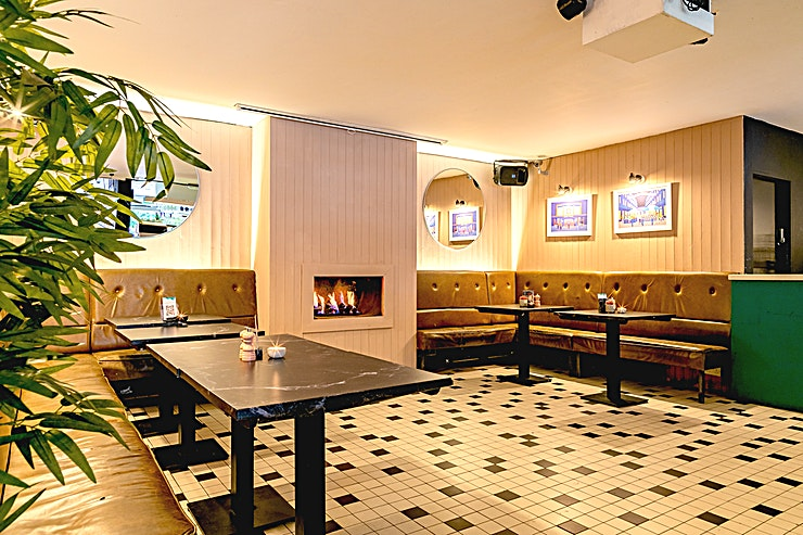 The Fireplace A semi private area located in the main bar, perfect for casual dining and small canapé parties. Close enough to all the action yet still tucked away for that intimate feel.