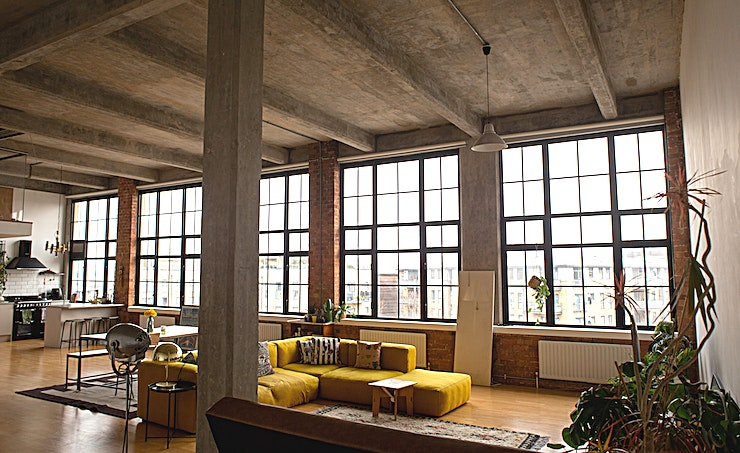 Studio **1200 square feet industrial feel studio Space.**