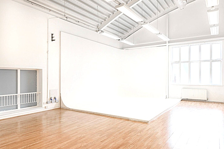 Cre8 Studio, The Old Baths 4 Film + Photography and Event Studios available for hire. Located in Hackney Wick, East London. The studios also includes car park Space, seated client area, cafè and catering available.  Studio One