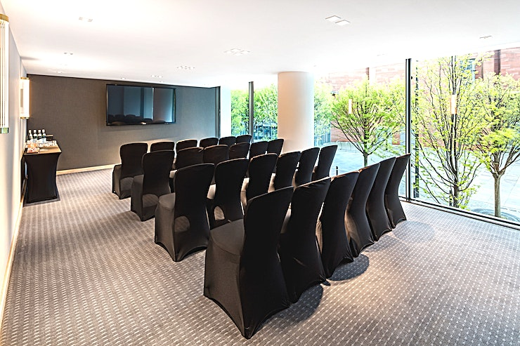 Private Room 5 **Hire Private Room 5 for a beautifully furnished Space for your next meeting, conference or private dinner**  From private dining to presentation-style conferences, this meeting room venue in the h