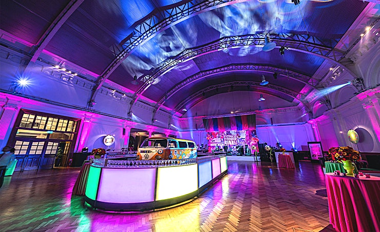 Lindley Hall **A beautiful, award winning, versatile Space characterised by its gorgeous Edwardian features and stunning glass vaulted ceiling, the Lindley Hall provides a breath-taking backdrop for any event.**