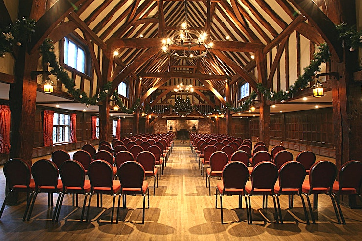 Tithe Barn  **Looking for an unusual setting for your next meeting?**   The beautiful 14th-century Tithe Barn is just the thing. Providing a dramatic setting for any event, your delegates will be wowed by the u