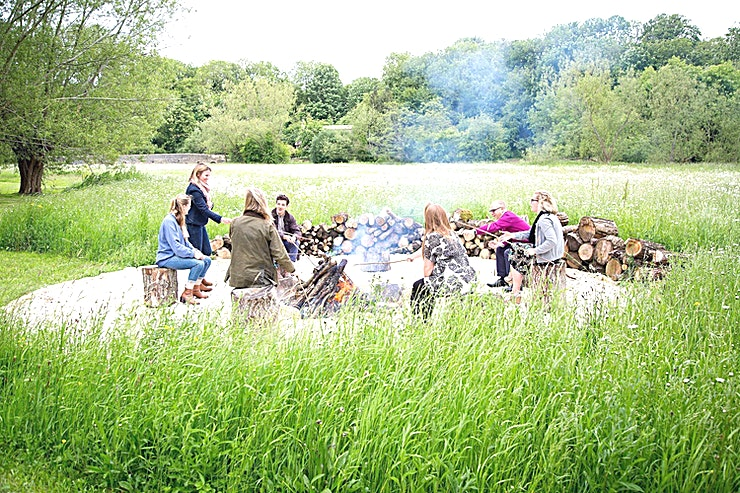 Campfire **Set within 65-acre gardens and magical meadows is a campfire for team-building activities, somewhere a bit different from the boardroom.**