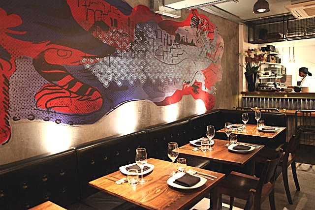 "Downstairs Private Room, Day Hire JINJUU, meaning ""PEARL"", is London's premier modern Korean food restaurant with celebrity chef, Judy Joo, at the helm.