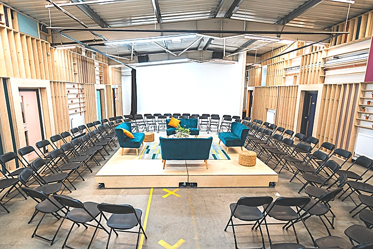 The Atrium Make It London are workspace providers bringing colour, enterprise and social value to London's underused spaces alongside a community of creative industries. In the heart of the co-working space lies the Atrium, a multi-functioning fully licensed venue space suitable for a variety of events from drinks receptions to conferences.    The Atrium is also home to the Infinity Cove, an affordable photography studio with flexible terms for private hire.