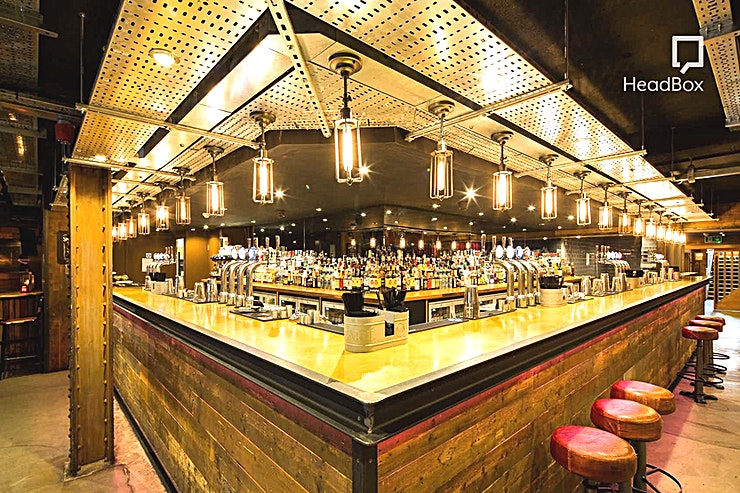 Private Event Room **The event room at Dive is a popular party venue space for hire in Manchester.**  Slap bang in the Northern Quarter, Dive is a cool venue hire to hold your party.   At Dive we have flexible space