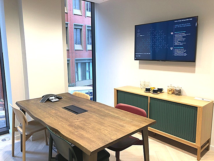 Meeting Room 8 **The ideal setting for important meetings. Leading design fixtures and features and state-of-the-art technology enable your meetings to go global, without leaving the comfort of your Space.**