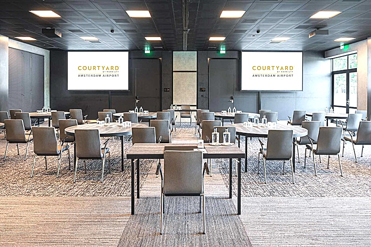 Meeting Room 8+9 **Combine Meeting Room 8 and 9 at Courtyard by Marriott Amsterdam Airport for a spacious creative Space in Amsterdam.**
