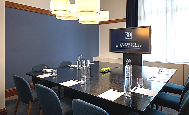 England, Heritage Room **The England Heritage Room at 30 Euston Square is a multi-functional event Space in central London that can host any occasion.**  The 6 Heritage Rooms at 30 Euston Square represent the strong history of the venue, complete with original oak features and large windows.   Reinvented to create memorable private dining and intimate day meeting experiences with sustainable, locally sourced, best of British catering and exquisite butler service.   Guests can experience state-of-the-art technology, palatial amenities and a high-class lounge within a beautiful and comfortable environment.