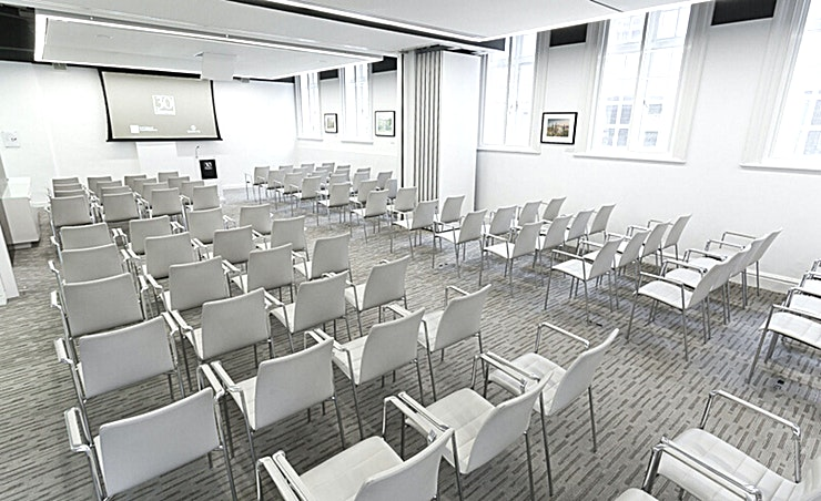 Ground Floor Meeting Room 4.5 **Ground Floor Meeting Room 4.5 at 30 Euston Square is a spacious conference room for hire near Euston.**
