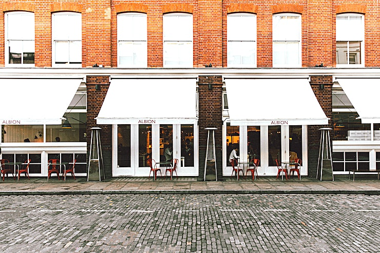 Albion **Albion is an all-day café, bar and grocery located on the ground floor of Boundary London.**   A Shoreditch icon, Albion has been feeding the hungry folk of the area for almost ten years.   Spec