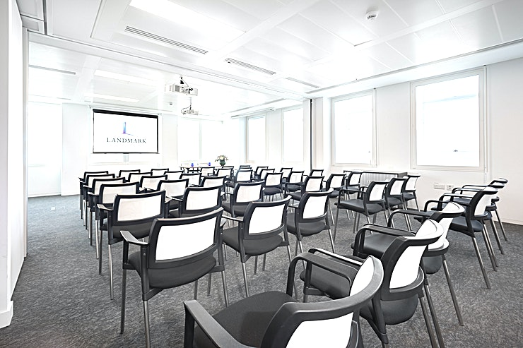 Wigmore and Regents **Intergration of 2 meeting rooms located on the 13th floor. 3 minutes walk from Oxford Circus Station and 7 minutes walk from Bond Street Station.**   Stunning view of Central London. Projector / Peripherals for a Variety of Computers / Screen / Conference Call Phone / Whiteboard and Fresh Markers / Comfortable Chairs / Reliable Wi-Fi / Access to Water, Tea and Coffee / Power Outlets / Wired Internet Connection