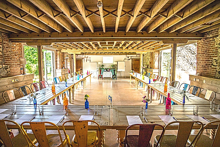West Lexham **Hire the Barn at West Lexham for corporate venue hire like no other.**  **Corporate Events Venue Hire**  Get away from it all and let nature soothe your brow and drop you into utter tranquility.