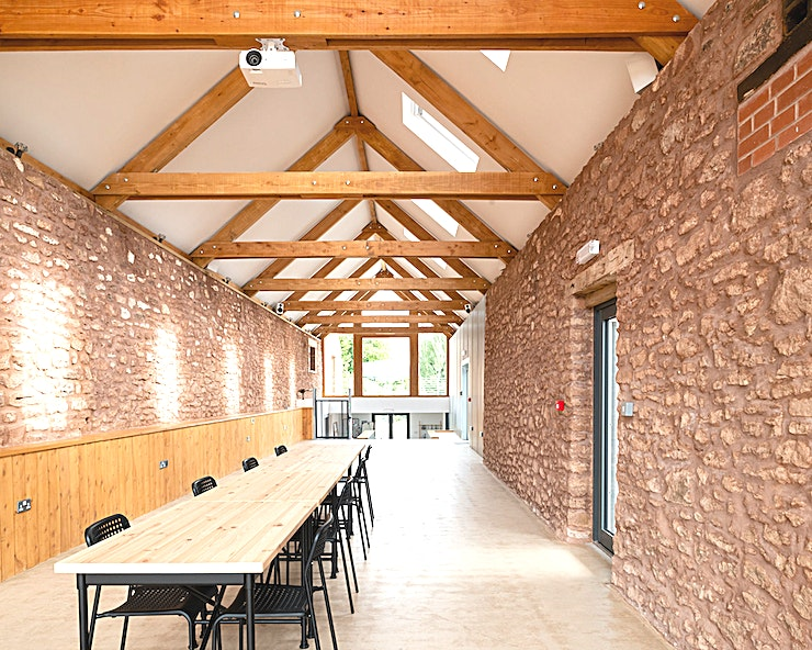 Granary and Studio **A change is as good as a rest, so why not hold your next corporate retreat in the idyllic surroundings of the Quantocks near Bridgwater in Somerset.** 