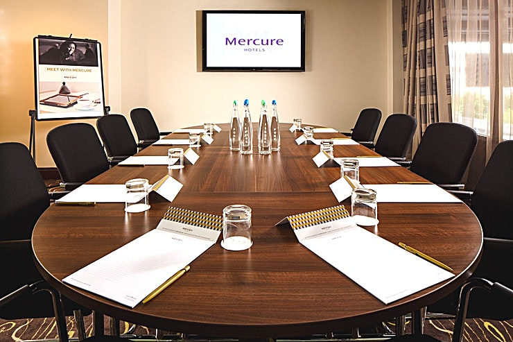Boardroom **The Boardroom at Mercure Manchester Piccadilly Hotel is an intimate, state-of-the-art meeting room for hire in Manchester.**