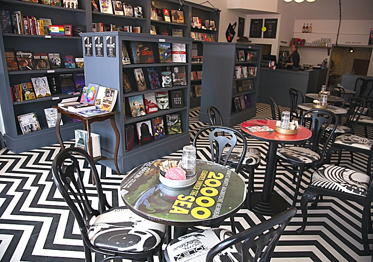 Whole Venue **Ripley and Lambert is a unique and fascinating independent specialist film bookshop and cafe in Dalston, East London.**  